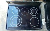 Kitchenaid Range Glass Cooktop With Burners Black