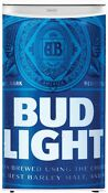 Mini Refrigerator White Bud Light Branded Door Freezer Compact Manual Defrost