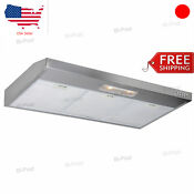 Range Hood Stove Fan Under Cabinet Mount Cfm 36 Stainless Steel Cooking Vent