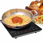 Portable Induction Sensor Touch Cooktop Ultrathin Full Glass Counter Top Burner