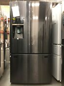 Samsung 28 Cu Ft French Door Refrigerator In Black Stainless Steel Rf28hfedbsg