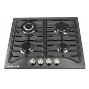 Kitchen Appliance Black Stainless Steel 4 Burners Built In Gas Hob Cooker