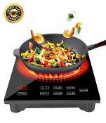 1800w Portable Induction Cooktop Countertop Burner Cooktop With Timer Lo New