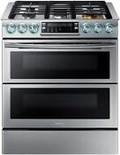 5 8 Cu Slide In Double Gas Range Self Cleaning Convection Oven Stainless Steel