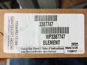 Whirlpool Wp3387747 Dryer Heater Element New Oem Free Shipping