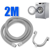 78 7 Pvc Flexible Elbow Drain Hose With Bracket For Washer Washing Machine
