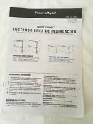 Installation Instructions In Spanish And French Fisher Paykel Dishwasher Dd603