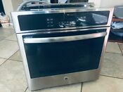 Ge Electric 27 Built In Single Wall Oven Model Jk5000sf4ss Local Pick Only