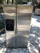 Amana Stainless Steel Refrigerator Used Working Condition