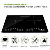Electric Dual Induction Cooker 1800w Cooktop Countertop Double Burner Portable