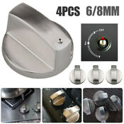4pcs 6mm 8mm Zinc Alloy Gas Stove Switch Cooker Control Knobs Rotary Kitchen
