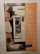 1950 S Vintage Ge Refrigerator Freezer Nh 10 8h Owners Manual 39 Recipes Nice