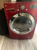 Lg Red Front Load Dryer Washing Machine