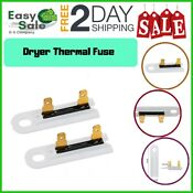 Ess Dryer Thermal Fuse Thermofuse Replacement Parts Whirlpool Kenmore 2 Packs