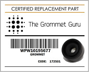 Wpw10195677 W10195677 Diverter Seal Grommet Whirlpool Kitchenaid And More