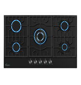 Empava 30 In Tempered Glass Gas Cooktop 5 Burners Cooker Built In Stove Gc26