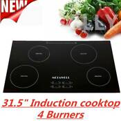 Hot Sell 31 5 Inch 240v Induction Hob 4 Burner Stove A Grade Glass Plate Cooktop