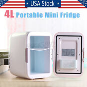4l Mini Refrigerator Fridge Portable Travel Auto Car Freezer Cooler Warmer 12v