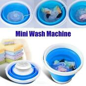 Automatic Clothes Washing Bucket Folding Laundry Tub Basin Mini Washing Machine