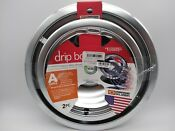 Range Kleen Drip Bowls Style A 2 Piece Set Heavy Duty Chrome