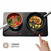 Gastrorag 1800w Portable Double Induction Ceramic Cooktop Lightweight Senso