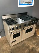 48 Viking Professional Gas Range Vgic4854gqwh Taupe Used