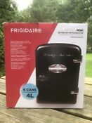 Frigidaire Portable Retro 6 Can Mini Fridge Efmis129 Black Cooler Locking Latch