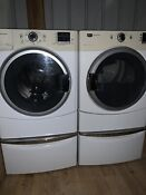 Maytag Frontloader Washer And Electric Dryer Matching Pair White Excel Condition