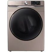 Samsung 7 5 Cu Ft Champagne Electric Dryer With Steam Sanitize