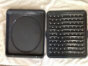 Broiler Pan Set Meat Cooking Drip Pan With Grill Plate Rack Broiling Oven Stove