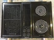Jenn Air 30 Electric Downdraft Cooktop Insert Grill Drop In Model Cve4270b