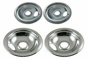 Chrome Drip Pans Hotpoint And Whirlpool Models 2 6 Inch 2 8 Inch Pans 4 Pack New