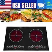 Double 2 Burner Top 220v Electric Induction Cooker Cooktop 2000w Countertop