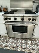 Wolf Gas Range With Infra Red Grill In Kitchen Appliances