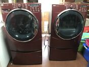 Kenmore Elite Washer And Dryer Set W Pedestals And Drying Rack