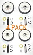 4 Pack Maytag Dryer Roller Wheel Drum Support Kit 303373k For 12001541 312948