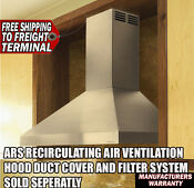 New Vent A Hood 42 Inch Ars Recirculating Air Chimney Style Hood Pdah14k42ss