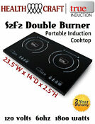 True Induction S2f2 Cooktop Double Burner Energy Efficient Portable 1800w