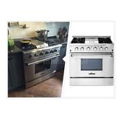 Thor Kitchen 36 Professional Stove Stainless Steel Gas Range Cooker W 4 Burners