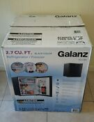 Galanz 2 7 Cu Ft Compact Single Door Mini Refrigerator Stainless Steel Black