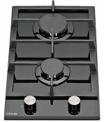 Millar Gh3020tb 30cm Built In 2 Burner Domino Gas On Glass Hob With Ffd
