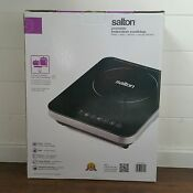 New Salton Portable Induction Cooktop 300w To1800w Timer 001
