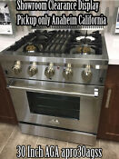 Aga Professional Series 30 Inch Apro30agss Display Stainless Steel Gas Range