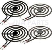 Pack Of 4 Range Burner Element Set For Ge 2 Each Wb30x254 Wb30x253