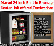 Marvel Ml24brf3rp 24 Inch Builtin Beverage Center With 2 Glass Shelves White Led