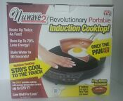 New Nuwave 2 Piece Precision Portable Safe Induction Cooktop With 9 Ceramic Pan