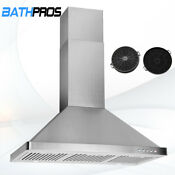 Wall Mount Kitchen Panel Stove 30 Stainless Steel Touch Control Range Hood Cf