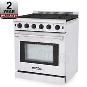 30 Thor Kitchen Lrg3001u Stainless Steel Gas Range With 5 Burners Black Q8x0