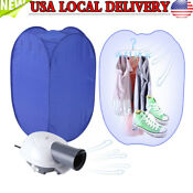 New Portable Electric Clothes Drying Machine Fast Dryer Folder Dryer Bag Home