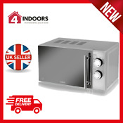 Tower T24015s 800w 20l Dial Microwave With 5 Power Levels In Silver Brand New